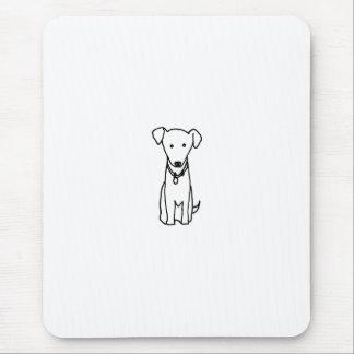 Dog - cute fun line drawing art logo design simple mouse pad