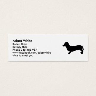 Dog dachshund mini business card