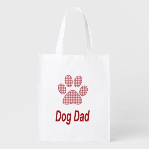 Dog Dad With Your Dogs Photo Reusable Grocery Bag Market Totes