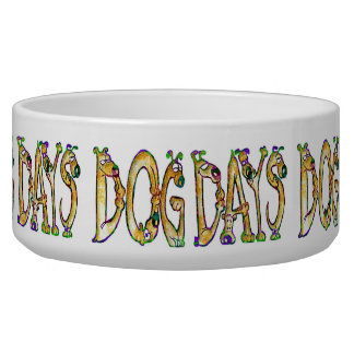 Dog Days Canine Food & Water Bowl Dog Bowls