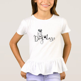 """Dog Daze"" Humorous Pug in Sunglasses T-Shirt"