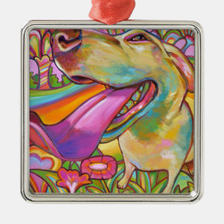 Dog Daze of Summer Silver-Colored Square Decoration
