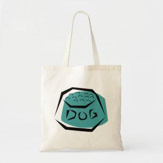 Dog Dish Tote Bags