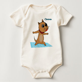 Dog Doing Yoga - Yoga Baby Clothes Creeper