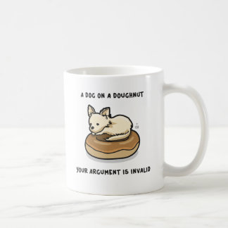 Dog + Donut Invalid Coffee Mugs