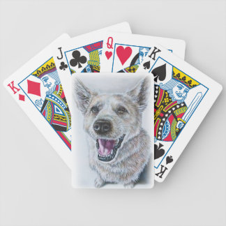 Dog Drawing Design of Sitting Happy Dog Poker Deck