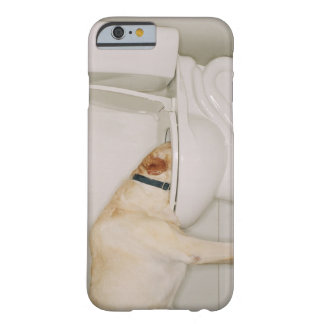 Dog drinking out of toilet barely there iPhone 6 case