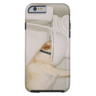 Dog Drinking out of Toilet Tough iPhone 6 Case