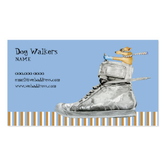 Dog Driving a Shoe Business Card