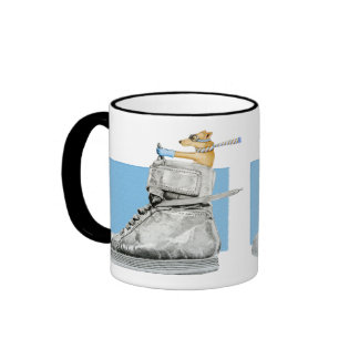 Dog Driving a Shoe Mug