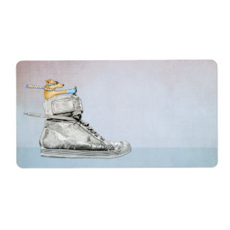 Dog Driving Shoe Gift Tag Sticker Shipping Label