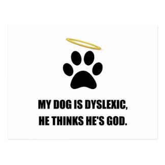 Dog Dyslexic God Postcard