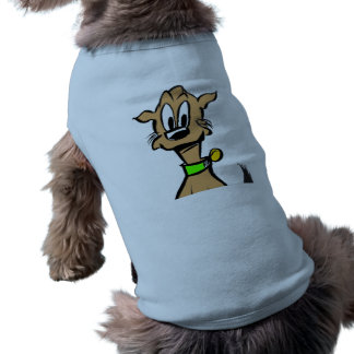 Dog Face Cartoon Tank Top Sleeveless Dog Shirt