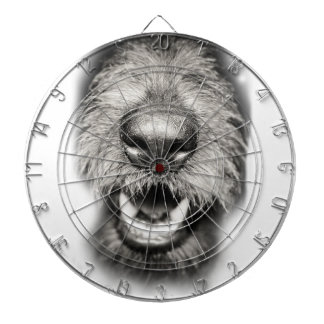 Dog Face Funny Smile Dartboard