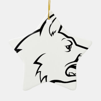 Dog Face Icon Christmas Ornament