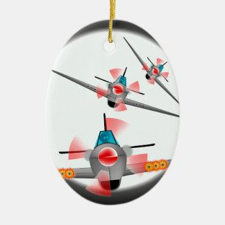 Dog Fight Christmas Ornament
