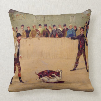 Dog Fighting oil on paper Pillows