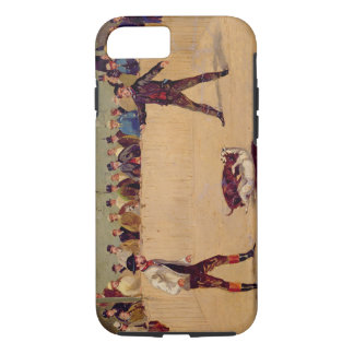 Dog Fighting (oil on paper) iPhone 8/7 Case