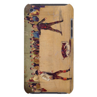 Dog Fighting (oil on paper) iPod Case-Mate Case