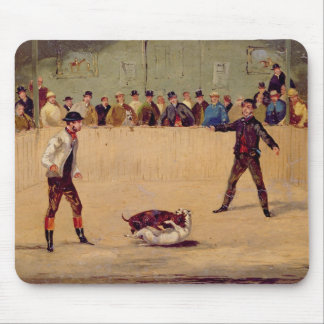 Dog Fighting (oil on paper) Mouse Mat