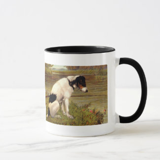 Dog Fishing with Anticipation Coffee Mug