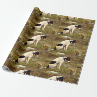 Dog Fishing with Anticipation Wrapping Paper