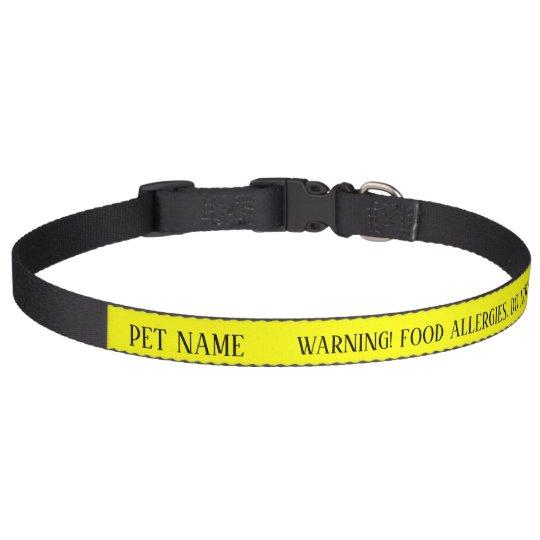 Dog Food Allergy DO NOT FEED Alert Collar