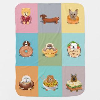 Dog Food Baby Blanket