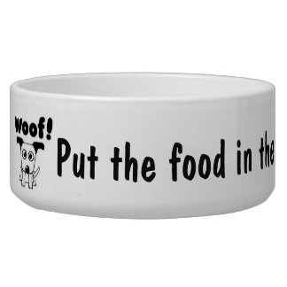 DOG FOOD DISH CUTE LARGE ADORABLE DURABLE
