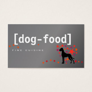 Dog Food Great DAne Business Card