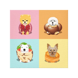 Dog Food Square Canvas