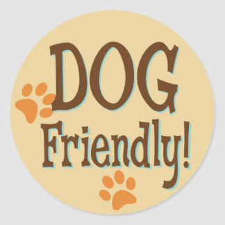 Dog Friendly Classic Round Sticker