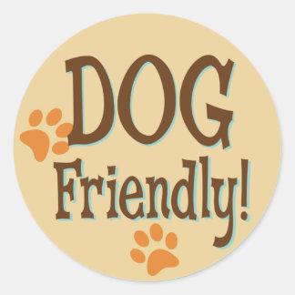 Dog Friendly Round Sticker