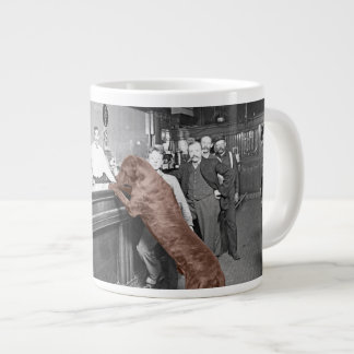 Dog Friendly Saloon Tavern Bar 1900 Photograph Large Coffee Mug