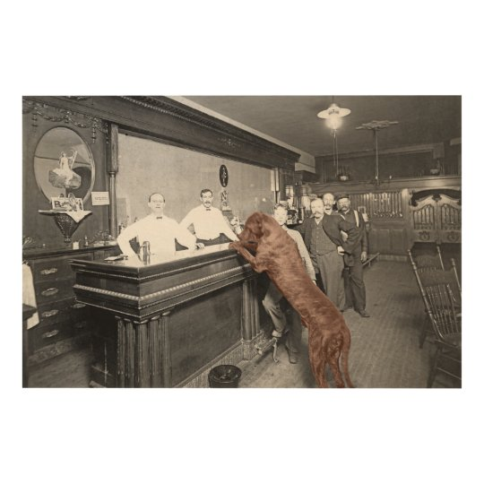 Dog Friendly Saloon Tavern Bar 1900 Photograph Wood