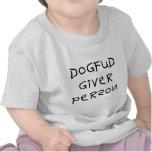 Dog Fud Giver Person Tshirts