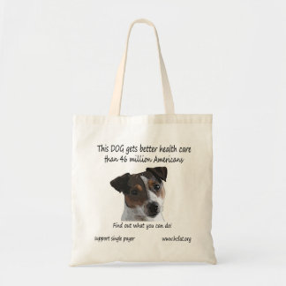 Dog gets better care tote bag
