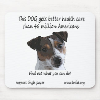 Dog gets better health care mouse mat