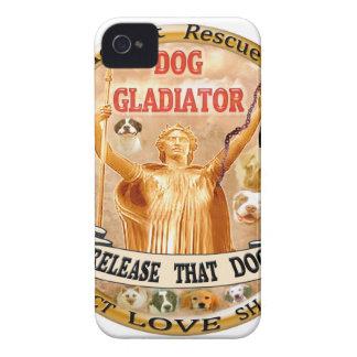 DOG GLADIATOR single Case-Mate iPhone 4 Case