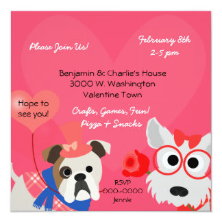 Dog-gone Fun Valentines Day Party Invitation