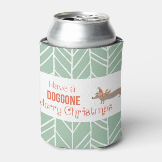 Dog Gone Merry Christmas Can Cooler