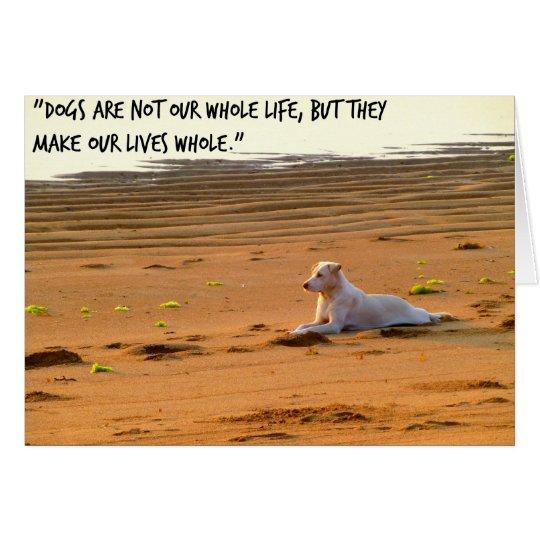 Dog greeting card, pet loss card, pet bereavement