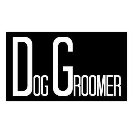 Dog Groomer Black Simple Business Card