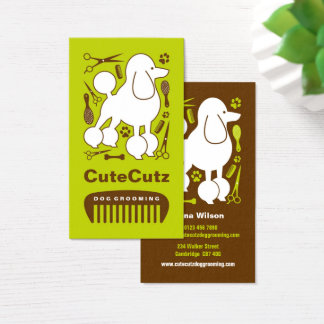 Dog Groomer Business Card