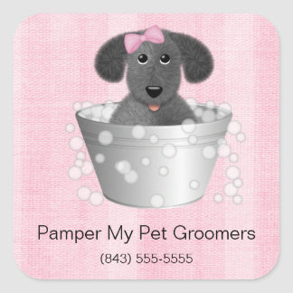 Dog Groomer Business Stickers