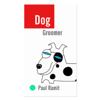 Dog Groomer Color Business Card