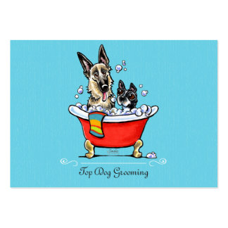 Dog Groomer Fancy Claw Foot Tub Blue Pack Of Chubby Business Cards