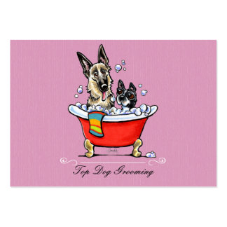 Dog Groomer Fancy Claw Foot Tub Lavender Pack Of Chubby Business Cards