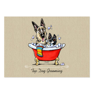 Dog Groomer Fancy Claw Foot Tub Organic Pack Of Chubby Business Cards