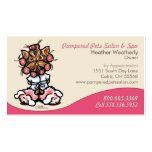 Dog Groomer Pet Spa Business Yorkie Business Card Template